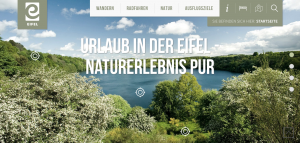 Screenshot von www.eifel.info/wandern